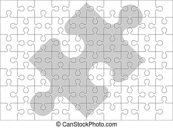 stencil of puzzle pieces