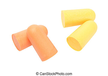 Ear Plugs - Soft Foam Ear Plugs on White Background