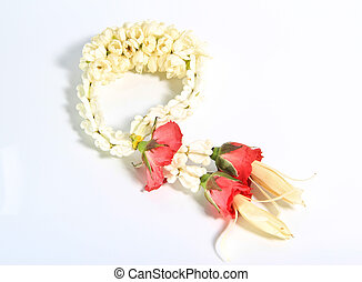 Flower garlands in thai - image of Flower garlands in thai...