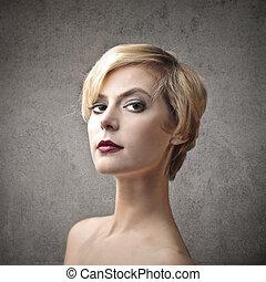 Confident woman - Confident blonde woman