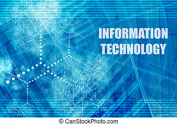 Information Technology Blue Abstract Background with...