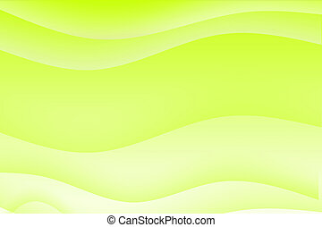 Abstract green wavy soothing background in gradients
