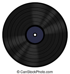 Vinyl Record 33 RPM - A 33 RPM vinyl LP record with a blank...