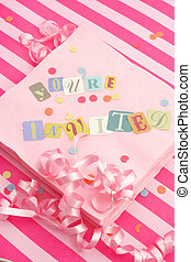 you\\\'re invited - cut out letters spelling you\\\'re...