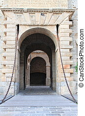 Main entrance gate of Dalt Vila, Ibiza - Main entrance gate...
