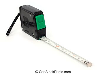 metre - measuring tape on a white background
