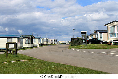 Mobile caravan or trailer park - Scenic view of mobile...
