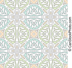Seamless traditional tile - Seamless traditional vector tile...