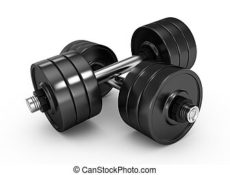 dumbbells isolated on white background 3d rendered image