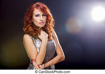 Beautiful red hair woman