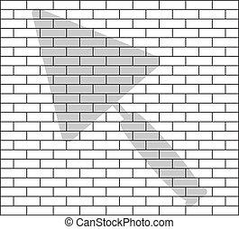 stencil of brick wall