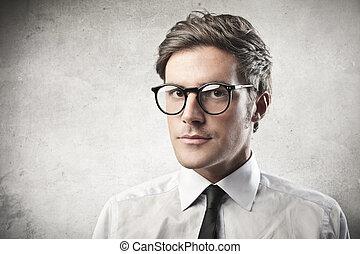 portrait of businessman - portrait of young businessman on...