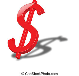 Dollar - Icon that represents the currency symbol of the...