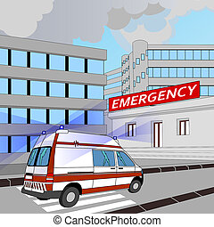 emergency - ambulance ride to the emergency room