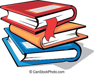 Books - stack of colorful books