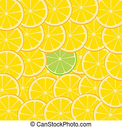 Lime & Orange Fruit Slice Background
