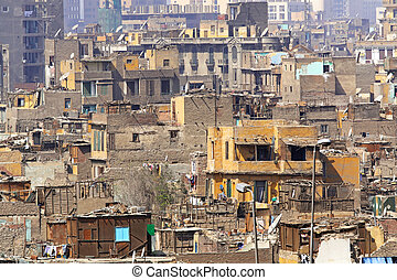 Middle East - Bad and dirty slum houses in Middle East