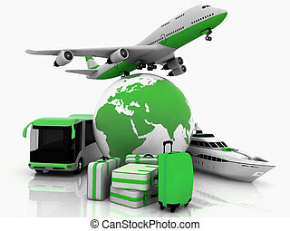 types of transport and suitcases - types of transport...