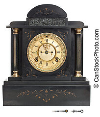 Antique Clock with Roman Numerals - Antique Wall Clock with...