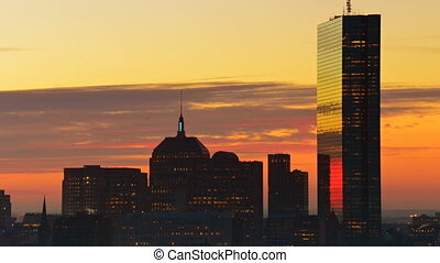 Timelapse of sunrise over Boston