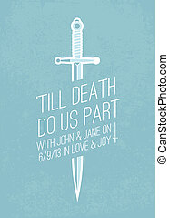 Vector Sword and Text Background. Easy to edit. Perfect for...