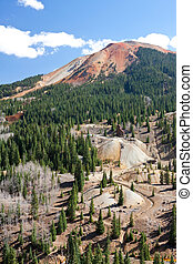 Mining Buildings and Tailings These mines in Colorado are...
