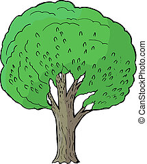 poplar - Hand drawn, vector, cartoon illustration of poplar