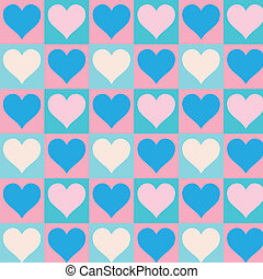 Lovely small hearts seamless patter