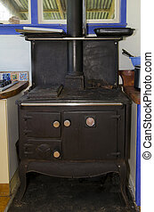 Old kitchen oven - An old-fashioned kitchen oven.