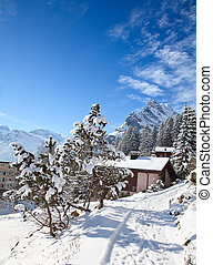 Winter in alps - Winter in the swiss alps, Switzerland