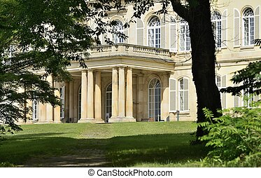 castle columns, Hoenheim - detail of ancient baroque castle...