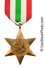 The Italy Star WWII Med - The Italy Star Second World War...