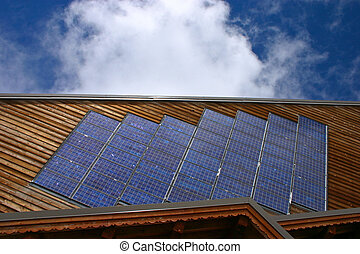 Chalet with solar panels - Horizontal - Solar Energy at the...