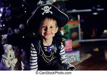 The boy the pirate - The boy in clothes of the pirate...
