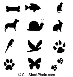 animal silhouettes - a variety of animal silhouettes
