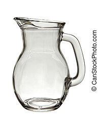 Glass jug isolated - Empty glass jug isolated on white...