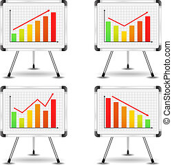 Flip charts with different bar graphs