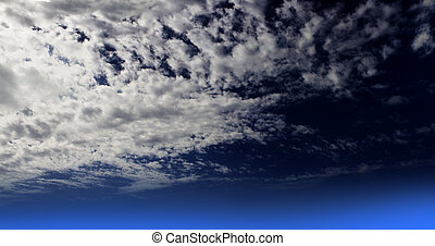 White clouds on Dark Blue sky