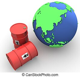 3D Oil trading concept