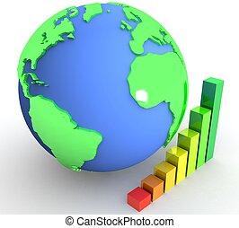 3d Global success concept