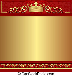 red and gold background with copy space
