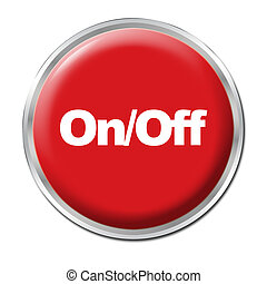 OnOff Button - Red round button with the symbol OnOff