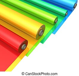 3d Color plastic rolls