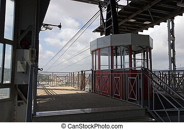Cable Car - Red cable car to Montjuic Barcelona Spain