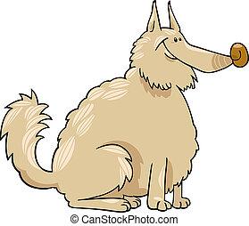 spitz dog cartoon illustration - Cartoon Illustration of...