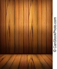Wooden background for design.Interior room - Wooden...