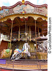 vintage carousel - Colorful vintage carousel in Tibidabo....