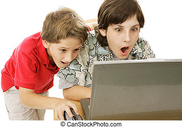 Shocking Internet Content - Two brothers shocked by what...