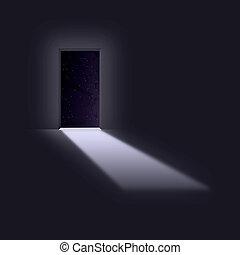 Doorway opens to space