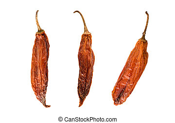 Aji Mirasol Seco Peppers - Three dried peruvian hot peppers,...
